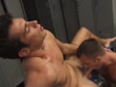 fine men blow In Locker Room