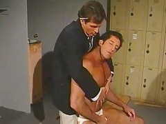 Vintage Hunk Charmers In Uniform driling Some a-hole In Lockerroom
