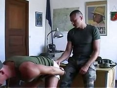 Luscious Army boys 3some