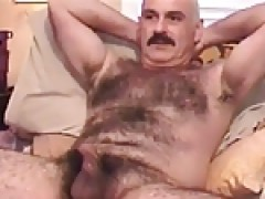 sucking dick of delicious hairy moustache daddy