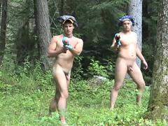 jerking off In The Forest Free gay Porn