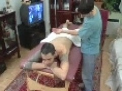 Straight Latin gets Massage And sucked Off