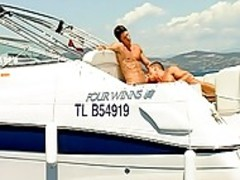 Two Steamy lovely men On a Motthellos chabrpoundin\' Boat!