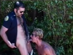 pretty cub police officer gets blowjob outside