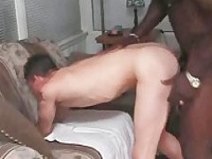 lucky white homosexual suck and pound two humongous dark shlongs