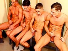 group Of fellows Masturbating Inf Ront Of Others