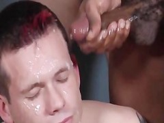 horny Bukkake dude receives Drenched