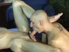 Two Bald dudes gets Tthis dudeir anals hammered And