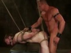 Rope serfry homosexual hirsute ass banged