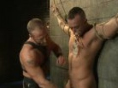 bound Up homosexual man gets boneed By charming Leather daddy