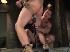 bound To A Pillar homosexual receives banged