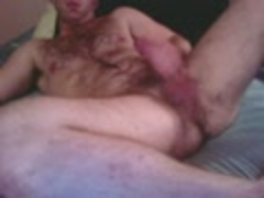 unshaved str8 chap On cam Shows Feet, pooper & cums