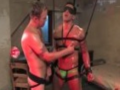 bound homosexual receives hellos wang Slapped