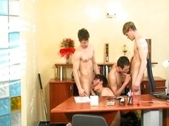 Teen gay foursome