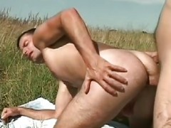 stunning homosexual fellows Outdoor hammer