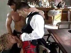 dude In Kilt receives penis sucked