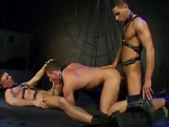 hawt Fetish twinks Threeway drilling