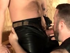 Tattoo giant ass gay Leather Bear suck And poke