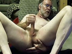 College Professor dad Fingers his anal On cam
