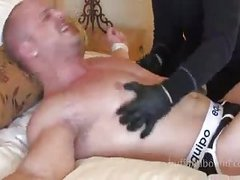 beefy boy receives Teased On bed