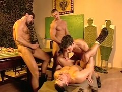 Lumber dicks musled hunks in one fiery gr ...