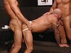 Muscle And Tattooed men plow