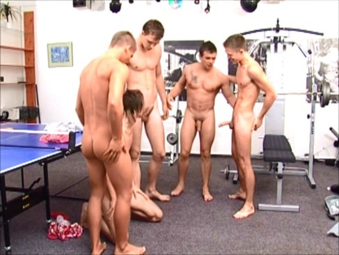 nudeback orgy In The Gym