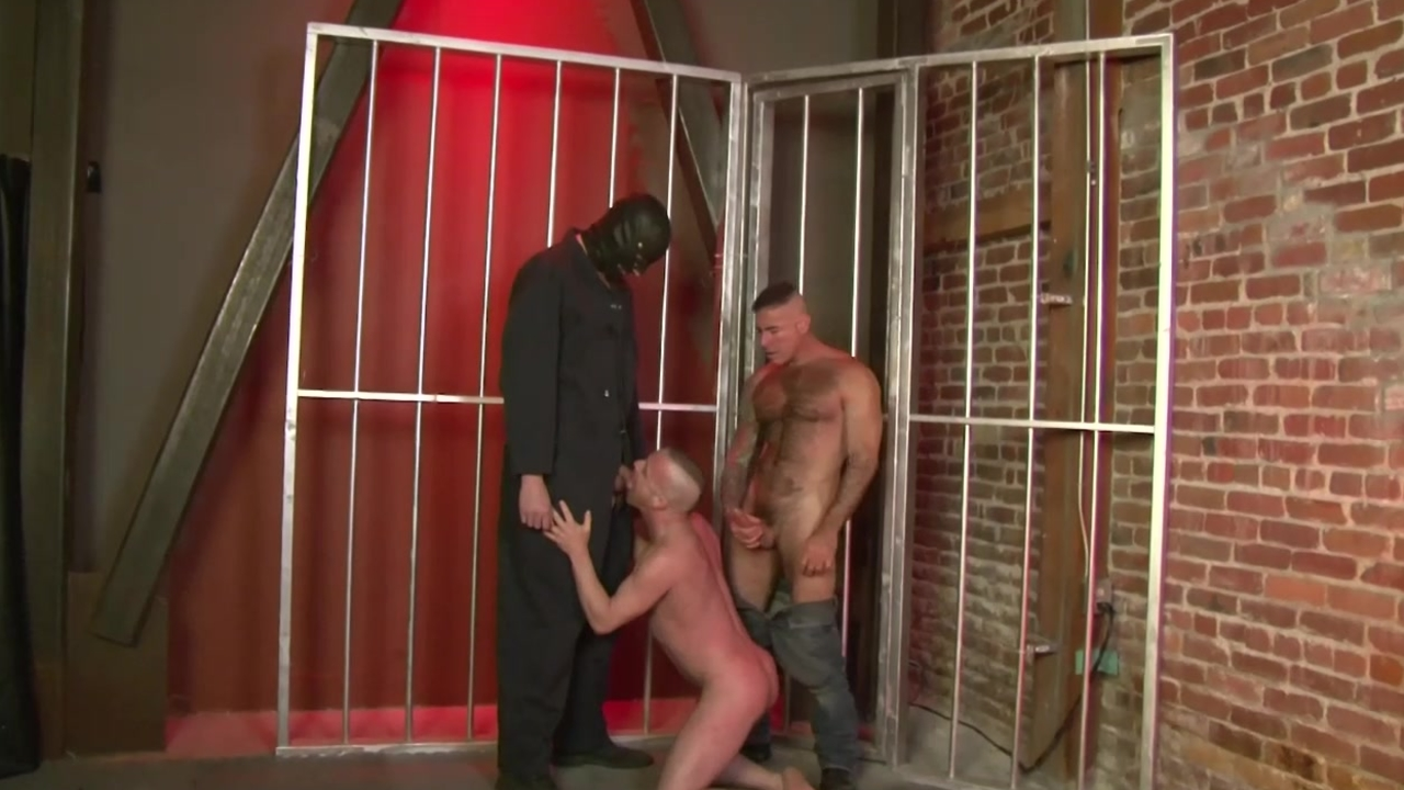 2 men Using bound Sex serf - Factory movie scene