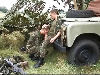 ass bang Outdoor For lustful Soldiers.