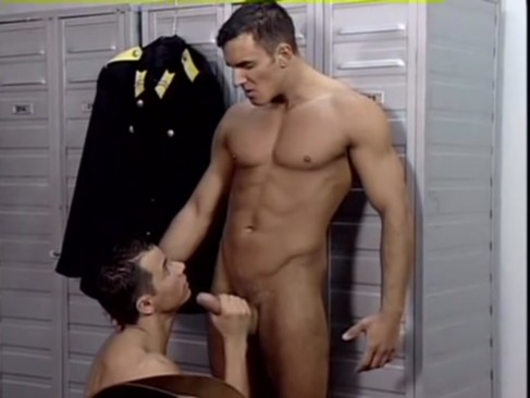 Three Police In The Locker Room