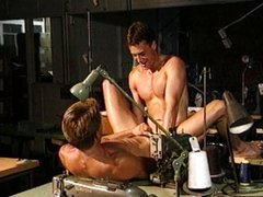 Two twinks drilling after long day