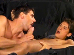 chap receives rimmed, banged and facial