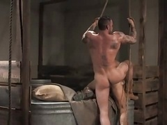 Tattoo fuck in the barn