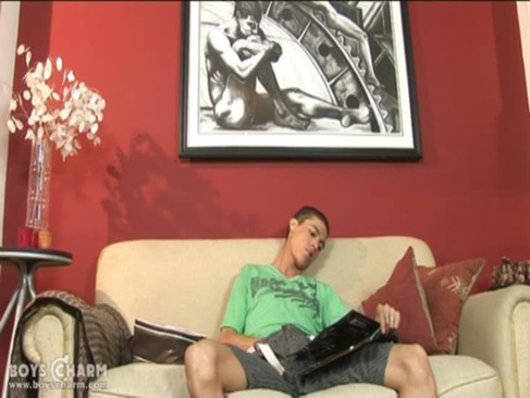 attractive boy Fools With A dildo And wanks To