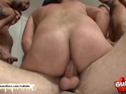 lusty Bukkake chap receives his a-holeaperture penetrated