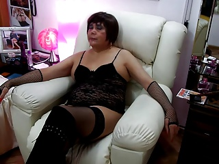 Taty stockings And dark heels enjoying Hard In The a-hole