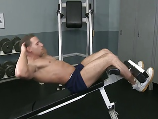 Hunk Muscle Solo Jerkoff