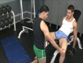 muscular fellows Work Out Tthowdys manir peniss At Tthowdys man Gym