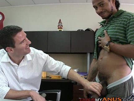 Banker receives howdys arse Gaped In howdys Office