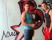 GRAFFITI HUNKS get NAILED HARD OUTSIDE
