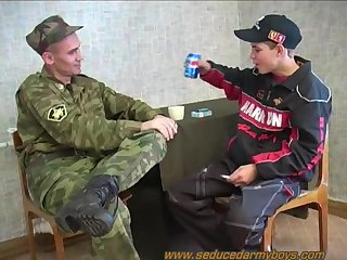 beautiful studs In Uniform sucking & boning