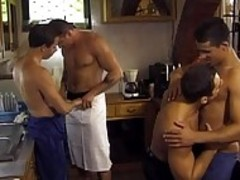 fun homosexual Plumber fantasy with 2 yummy men