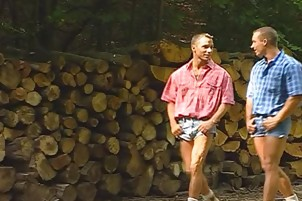 Hunky Muscle Sharks groupplow booty In Tthis chab Woods