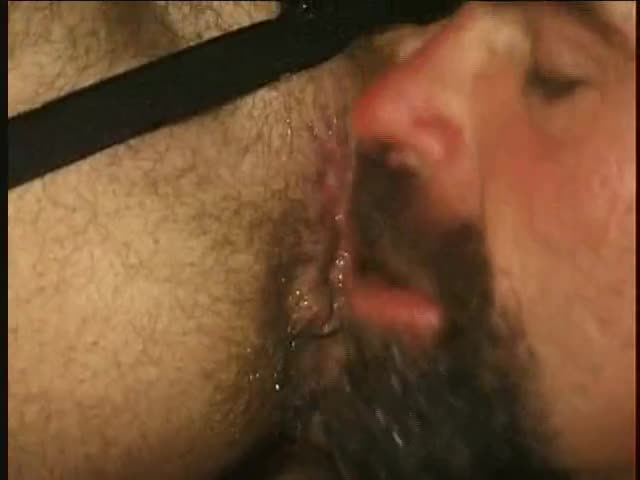 Two hairy lads Felching An booty Of spooge.  Titpig Is A Feature In This One, With Close Ups Of his Tongue And Great Goatee highlight him Teasing The