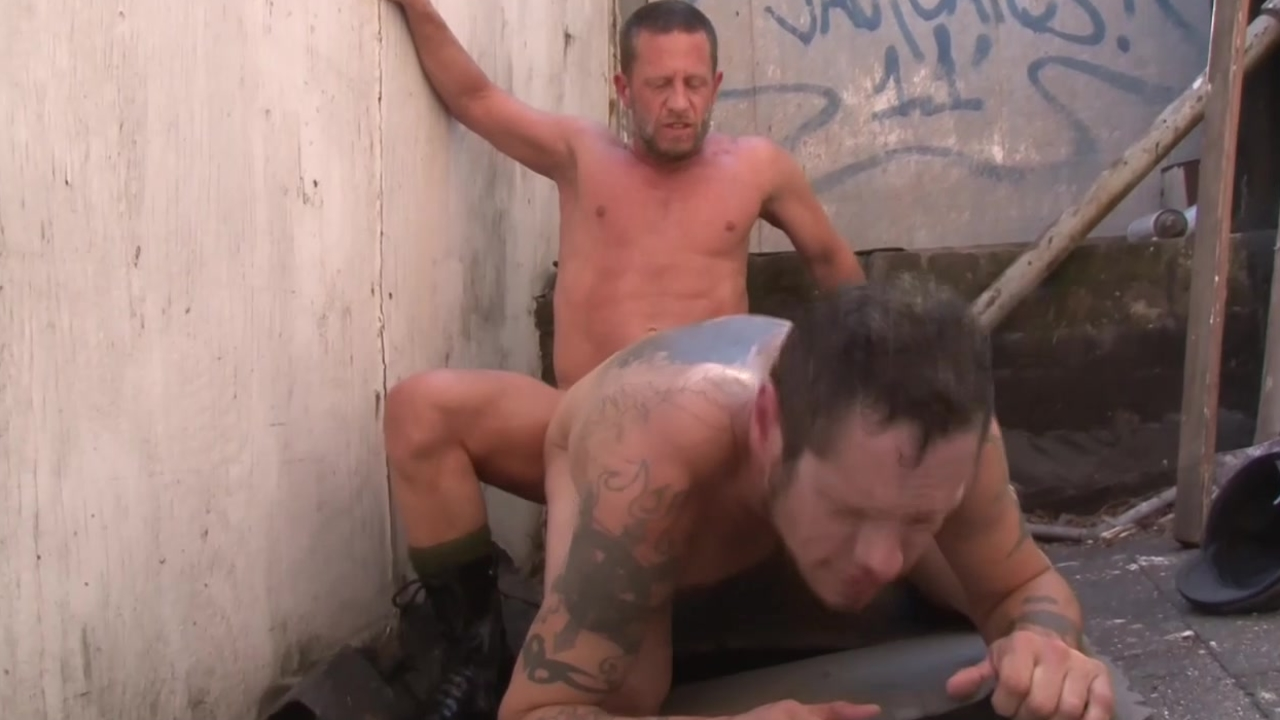 Tattoo hellos butt With your jizz - Factory movie scene