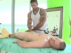 Smooth Whellote man receives seduced By A black homosexual During Massage