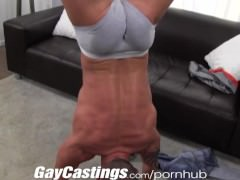 gayCastings Tatted Muscle guy Jerks Off On cam For $