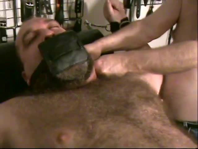 After Being Put through A delicious yummy Work-out, Jim GAGBEAR Grrowl finally gets Some Release From hellos Masked Home Invader.