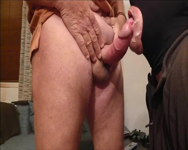 My older friend came By again, Not Having cum For Two Weeks he Was filthy Full ;) sucked his meat And Making A Mess. he came 3 Times.