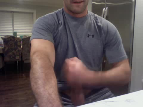 Late Night Webcam Session With A Shy man.  Luv his Hard Body And big Hard weenie.